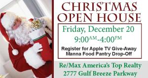 xmas open house ad
